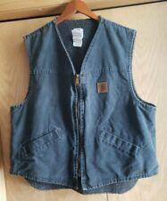 Carhartt Vest ~  Fleece Lined ~ Gray ~ Men's Size XL  Work Jacket