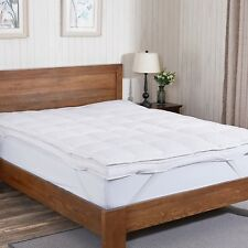 "Puredown® 3"" Premium White Goose Down Feather Bed Mattress Topper Pad"