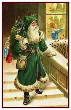Victorian Father Christmas Santa Claus  # 710 Counted Cross Stitch Pattern