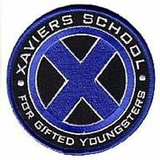 X-men Xaviers School ecusson bleu Xmen xaviers school blue logo patch