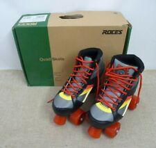 Roces Kolossal Quad Roller Skates - Black Grey Yellow - UK 4  |Thames Hospice