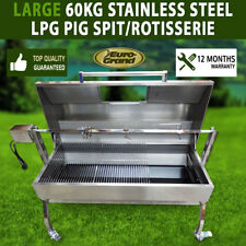 NEW LARGE STAINLESS STEEL 60KG LPG BBQ CHARCOAL PIG SPIT ROASTER ROTISSERIE
