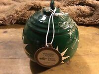 HallmarK CERAMIC Ornament Star GREEN CANDLE Ornament 7 Oz Balsam Cedar