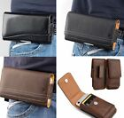 """For LG K40 X420 (6.0"""" x 3.5"""") - Leather Belt Clip Pouch Holster Phone Case Cover"""