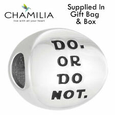 Genuine Chamilia Disney Silver Star Wars Do Or Do Not Yoda Bracelet Charm