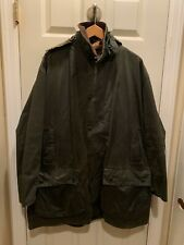 Barbour A200 BORDER Green Waxed Cotton Jacket Fish Hunting C46/117CM + Liner