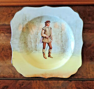 Royal Doulton plate, Orlando, 19 cm sq, Shakespeare characters, D3596