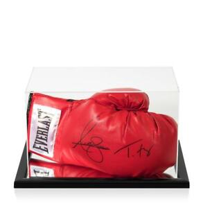 Anthony Joshua & Tyson Fury Signed Red Everlast Boxing Glove In Acrylic Case