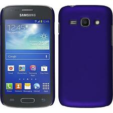 Hardcase Samsung Galaxy Ace 3 rubberized purple Cover + protective foils