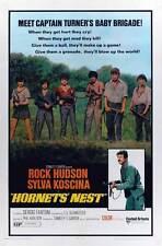 HORNETS NEST Movie POSTER 27x40 C Rock Hudson Sylva Koscina Sergio Fantoni