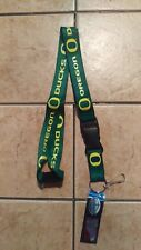 NWT NCAA Oregon Ducks Green Lanyard Keychain