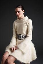 McQ Alexander McQueen Mohair Blend Knit Dress $1220