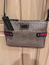 Authentic Tommy Hilfiger Crossbody Shoulder Bag Purse Black Multi NWT $69