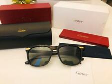 Cartier Auténtico Unisex Negro Gafas de Sol Marco Nuevo sin Usar