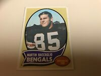 1970 Topps #187 MARTIN BACCAGLIO EX wrinkle 1.00 bengals