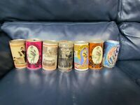 Lot of 7 Vintage Olde Frothingslosh Empty Beer Cans Pull Top