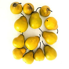 Realistic Artificial Pears Set of 13 Decorative Faux Fake Fruit