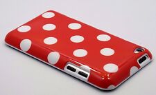 for iPod touch 4th 4g itouch cute case cover polka dots red pink white black/