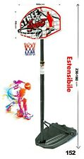 Panier De Basket-Ball Taille Réglable CM 180 - 230 Avec Lampadaire Et Panneau