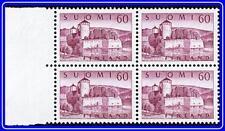 FINLAND 1957 CASTLE block of SC#338A Mint NH CV$48.00