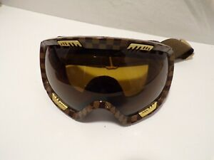 VZ Snowboarding Skiing Goggles Brown checked