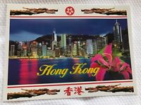 New The Central District Of Hong Kong Buildings Night Scene Postcard Ephemera