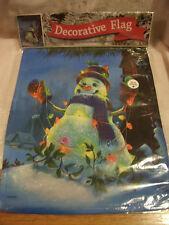 13x18 Double Sided Snowman With Christmas Lights Garden Flag