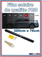 Rouleau de Film Teinté Noir de haute qualité pour voiture 76cm x 3 m(35%PRO)