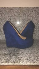 royal blue wedges platform