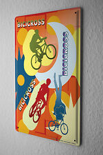 Sports Tin Sign Bicycle Cross Biker Metal Plate