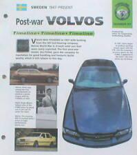 VOLVO Timeline History Brochure; PV444,760 TURBO,Bertone,262C,120,P1800,780,760,