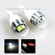 NEW 2X JDM 7000K LED SMD MOISTURE-FREE T10 194 168 W5W PROJECTOR LENS BULB EURO