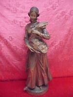 Classy Wooden Figure __ Holy Notburga, Patron Saint Der Bauer __Basswood__ 60cm