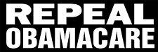 """REPEAL OBAMACARE BUMPER STICKER BLACK 9""""X3"""" SCREEN PRINTED"""