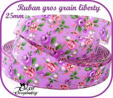 RUBAN GROS GRAIN LIBERTY A FLEUR COLLIER BIJOUX COUTURE