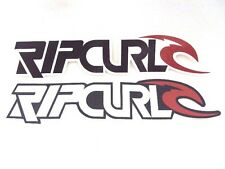 """New Rip Curl Surfing Surf Decals Stickers 7"""" X 1.25"""" Black/Red Or White/Red"""
