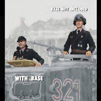 1/16 resin WW2 German Tankers of 2 Half Body Unpainted Unassembled