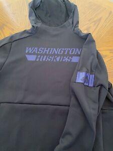 Adidas Washington Huskies Hoodie Sweatshirt Grey and Purple Size Large