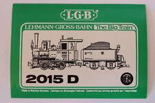 LGB 2015 D Dampflok