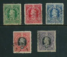 5 used Stamps - Chile 1902 Columbus issue
