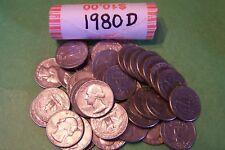 1980 D Washington Quarter Roll - 40 coins