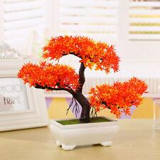 Mini Artificial Bonsai Tree Welcoming Plant Fake Greeting Pine Office Home Decor