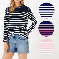 Ex M&S Pure Cotton Striped Long Sleeve Sweater Top RRP