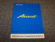 2005 Hyundai Accent Factory Electrical Wiring Diagram Manual Book GT GLS GL 1.6L