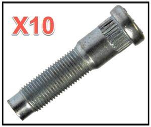 10 Wheel Lug Stud FRONT Replace OEM # F8AZ1107AA Dodge Ford Lincoln Mercury