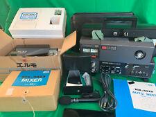 Elmo Gs-1200 Super 8 Film Projector with Very Rare Elmo & Panasonic Accessories