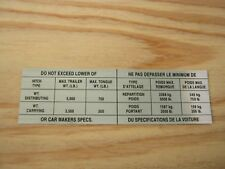 """New """"Towing Hitch"""" Caution label for Jeep SJ Grand Wagonee 1990 1/2~ 1991 models"""
