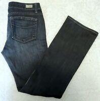 Paige Womens Size 30 Melrose Blue Jeans Dark Wash Denim Straight Leg Gray patch