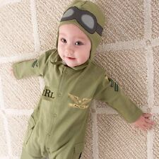 Baby Boy Pilot Military Air Force Aviator Astronaut Halloween Costume Outfit Set