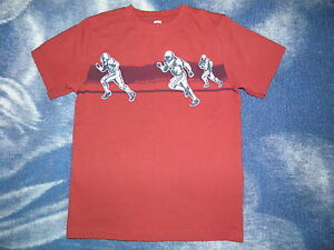"GYMBOREE ""Spy Guys"" Red FOOTBALL Shirt Size 8"